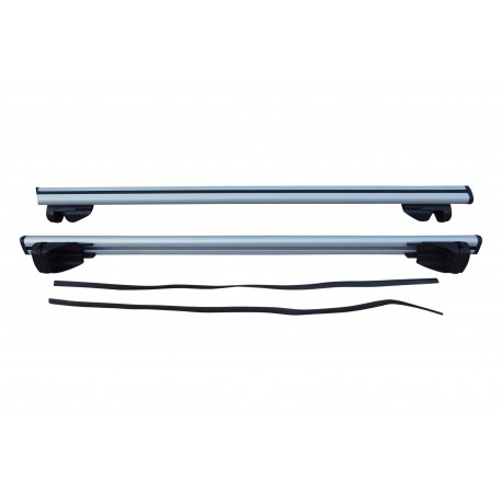 Horizontal car roof rack for kayaks